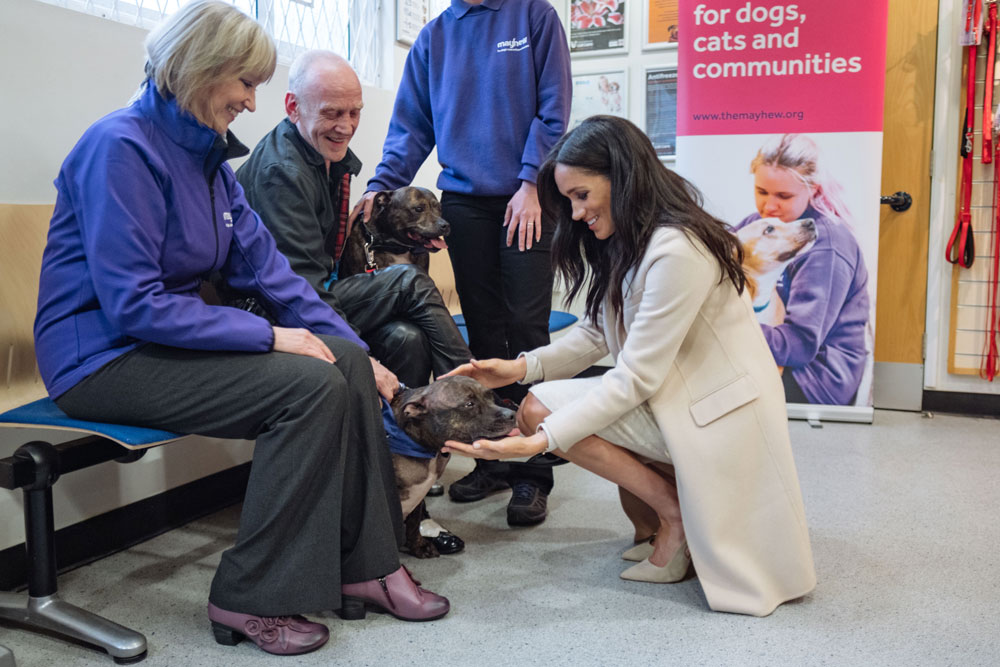 Duchess of Sussex meets former homeless man at Mayhew