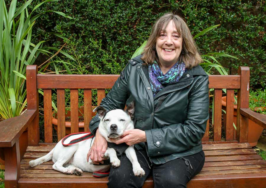 Sue and Cassie at Mayhew Animal Home London