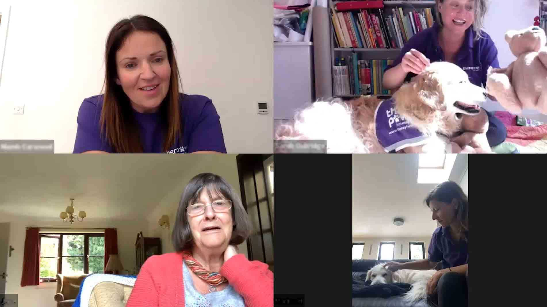 Virtual TheraPaws visit